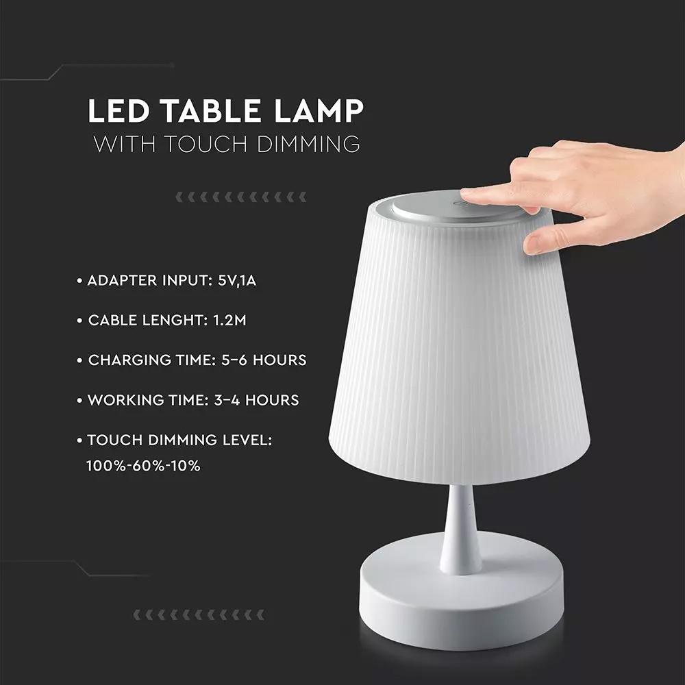Lampa de Masa LED 5W, Reincarcabila, Dimabila Tactil