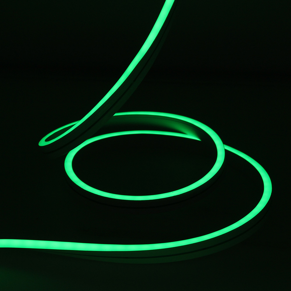 Neon Flexibil 3Y, 4x10, 140LED/M, 12W/M, 24V, Lumina Verde