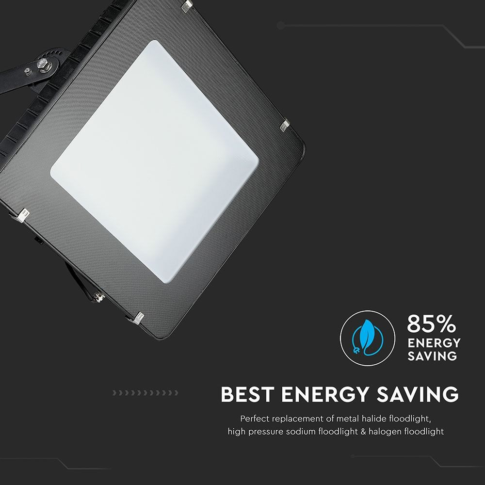 Proiector LED 400W SMD Cip SAMSUNG, Slim Corp Negru 6400K, 48000 Lumeni