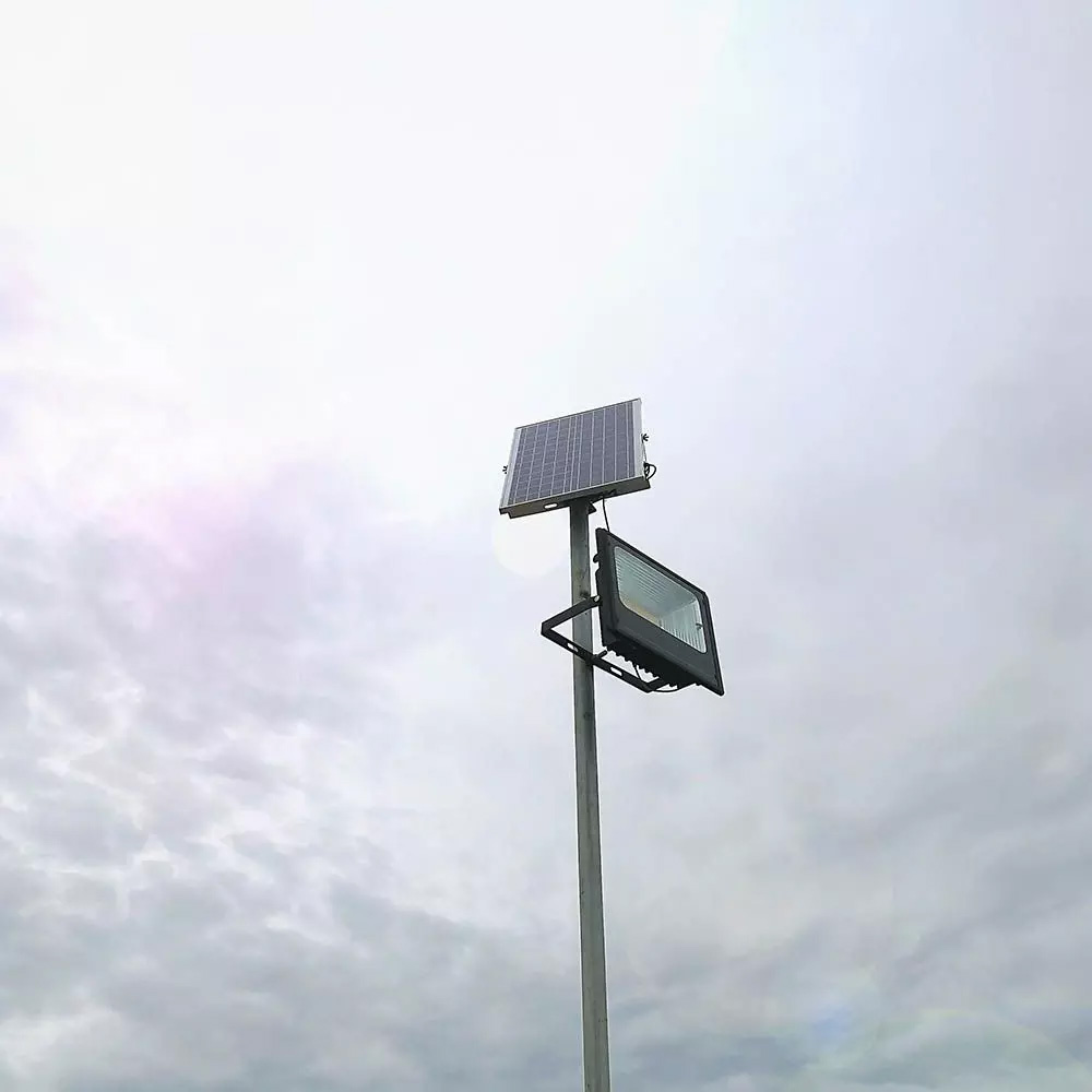 PROIECTOR LED SOLAR 50W CU PANOU INDIVIDUAL, LUMINA RECE
