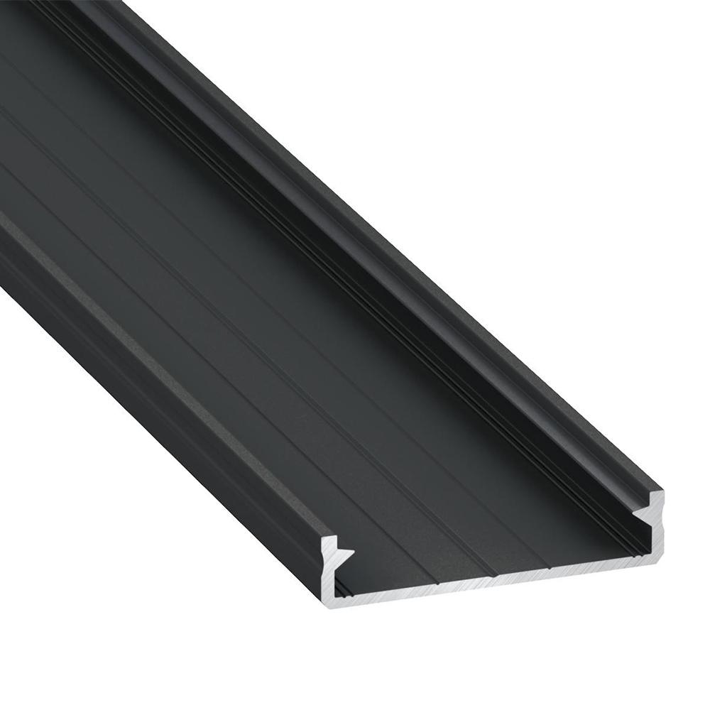 Profil Tip Solis Negru, Anodizat, Bara 2m