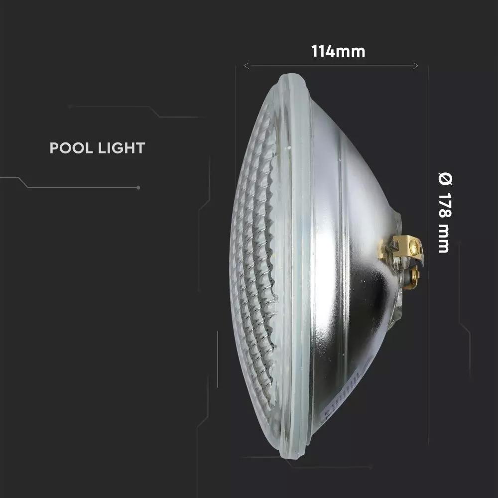 Lampa de piscina 8W, PAR56, Lumina Albastra, 800 lm