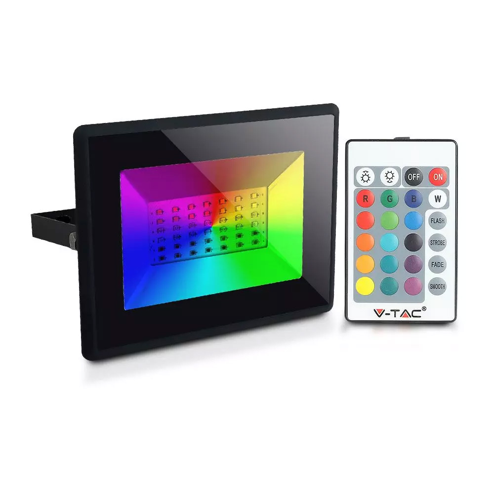 Proiector LED RGB 50W cu Telecomanda, IP66