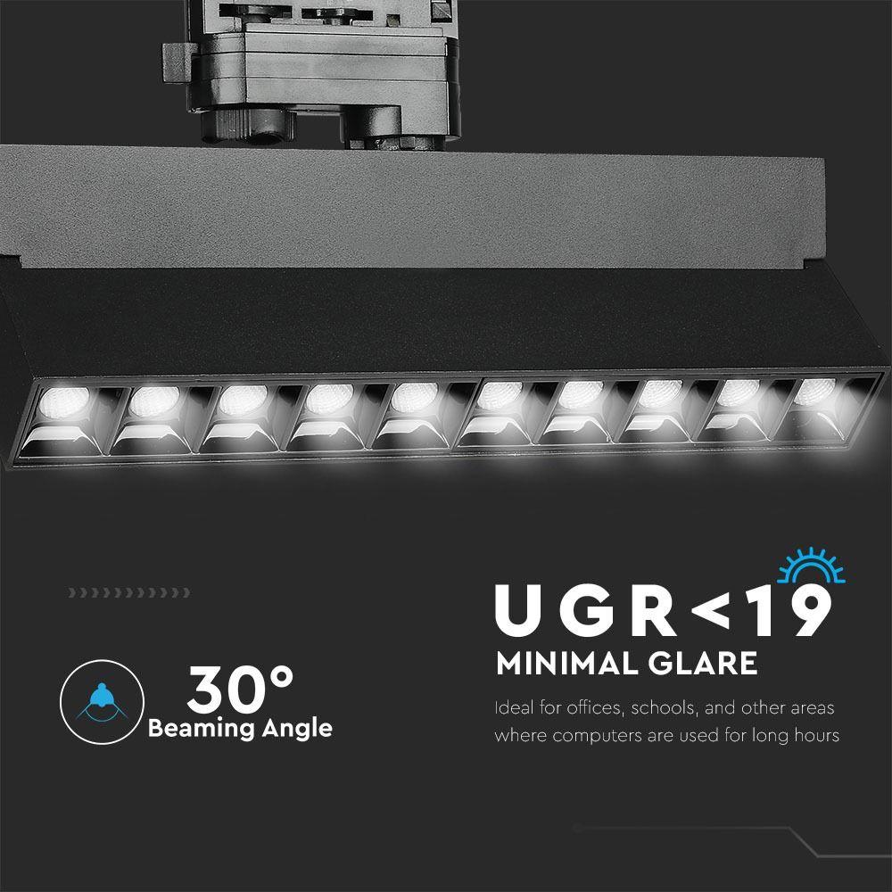 LED Linear Pe sina 25W Cip SAMSUNG Corp Negru 2700K
