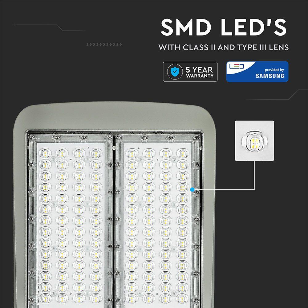 Lampa Stradala LED Cip SAMSUNG 200W, LUMINA NATURALA 4000K Clasa II Aluminiu Dimabil