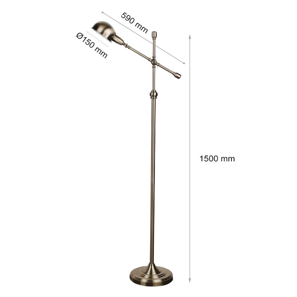 Lampadar, Soclu E27, Bronz, 1500x150 mm