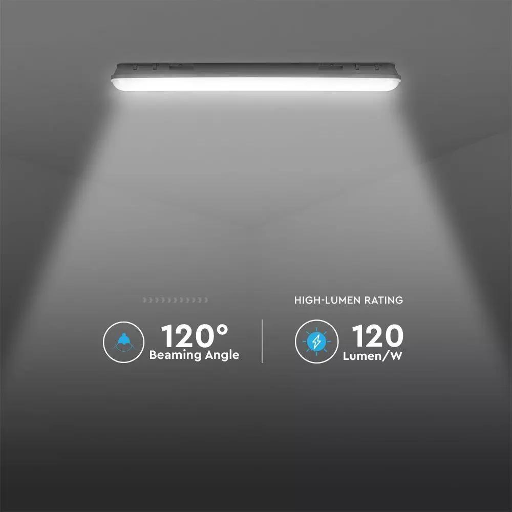 Lampa LED M-Series 1200mm, 36W, Lumina Naturala (4000K), Mata, 120 lm/W, Rezistenta la Apa