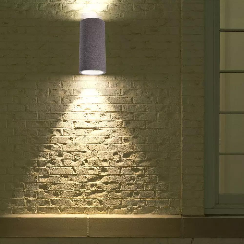 Lampa de Perete GU10 Beton Gri Deschis