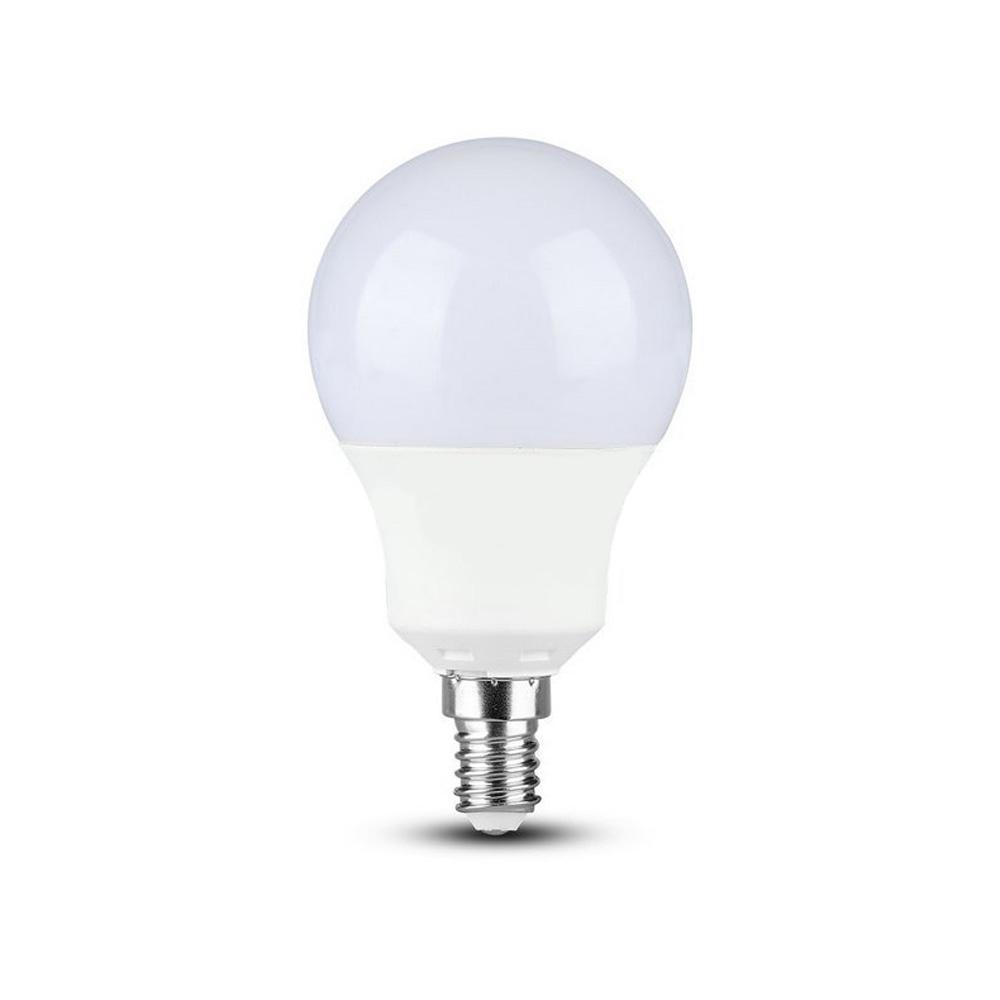 Bec LED 9W, E14, Plastic, A60, Lumina Rece (6400K) Cip SAMSUNG