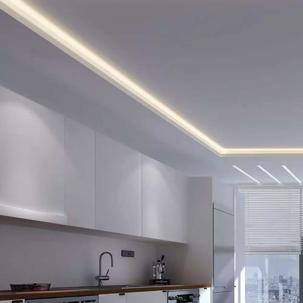 Banda LED COB 512Led/m, DC24V, IP20, Lumina Calda (3000K) 5m/rola
