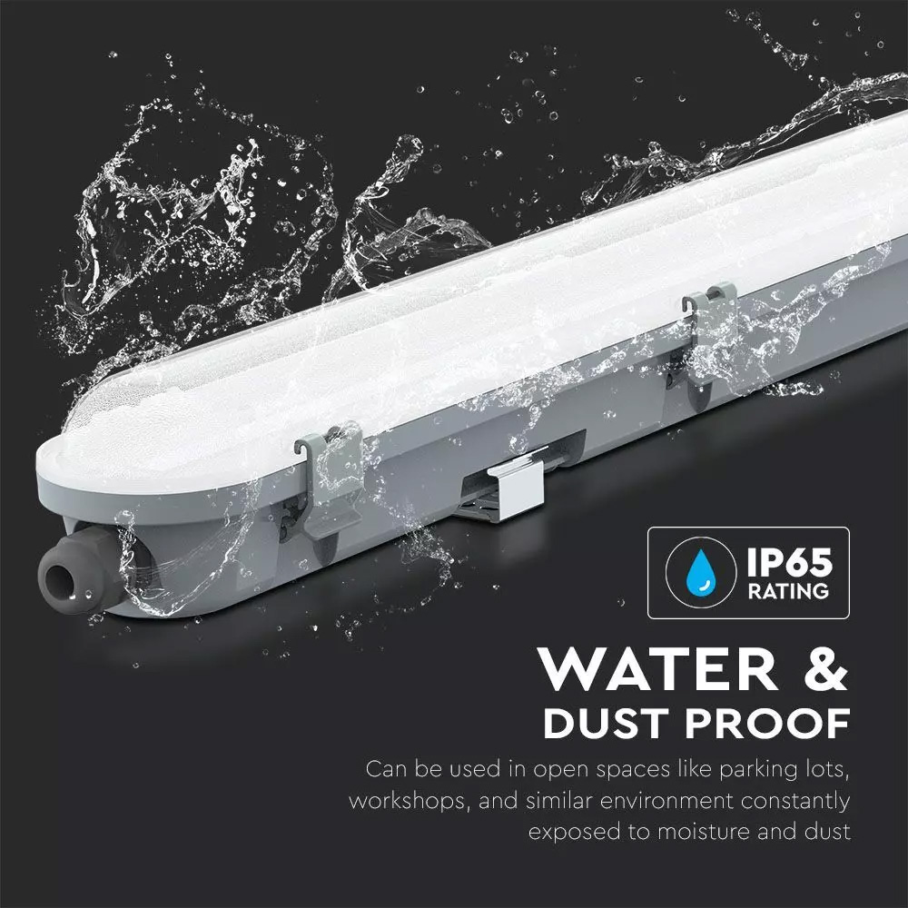 Lampa Liniara 18 W, Waterproof IP65, Lumina Rece( 6400K ), 600x78x72 mm