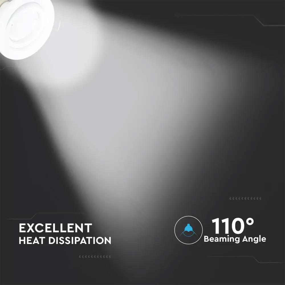 Spot LED 5W, GU10, Rama Alba Orientabila, Lumina Naturala (4500K) 3buc/set