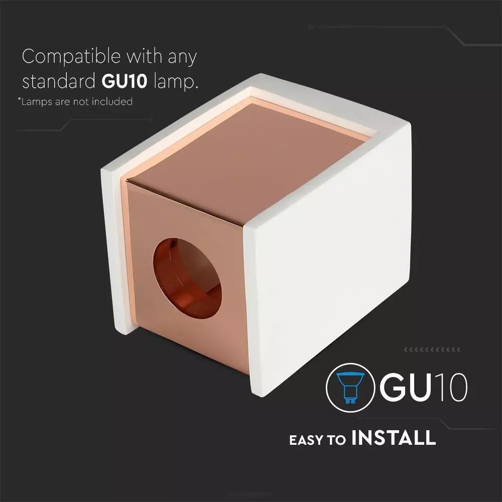 Fitting Patrat din Gips Aplicat pentru GU10