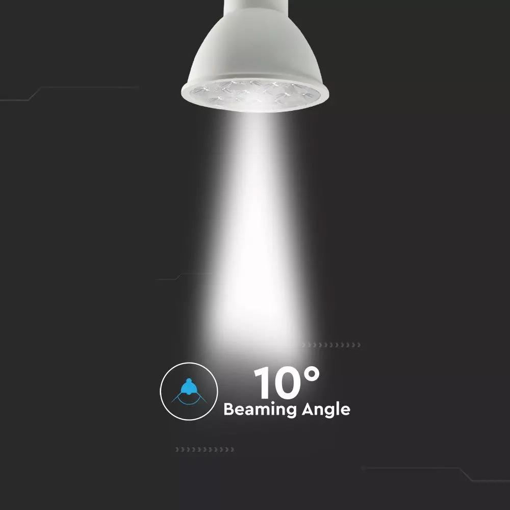 Spot LED GU10 6W, Plastic, Lens Cover 10°, Lumina Naturala (4000K) Cip SAMSUNG