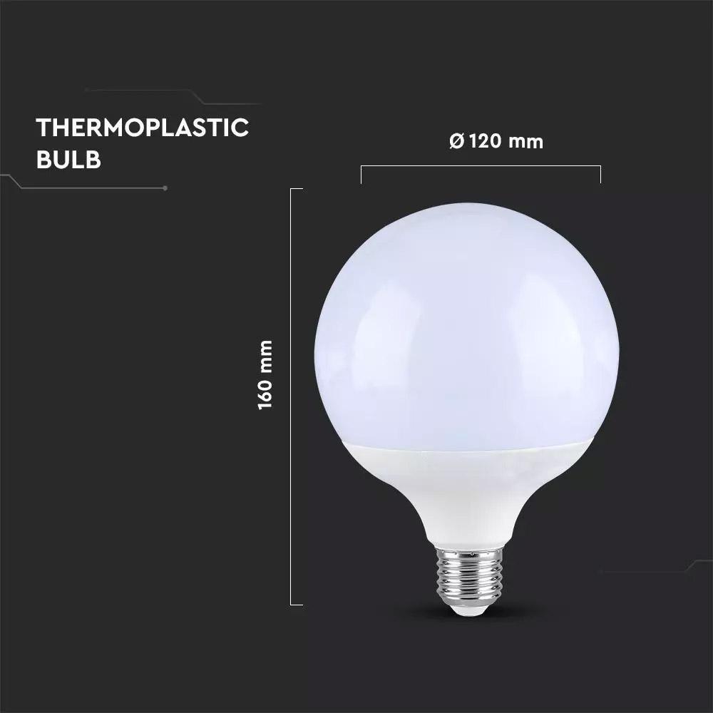 Bec LED 13W, G120, Е27, Alb cald, Dimabil
