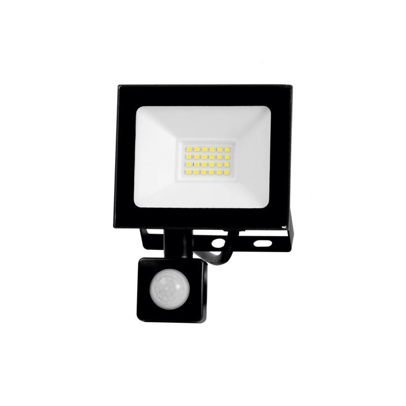 Proiector LED VINI cu Senzor 20W, Lumina Rece(6500K), Negru, 220V