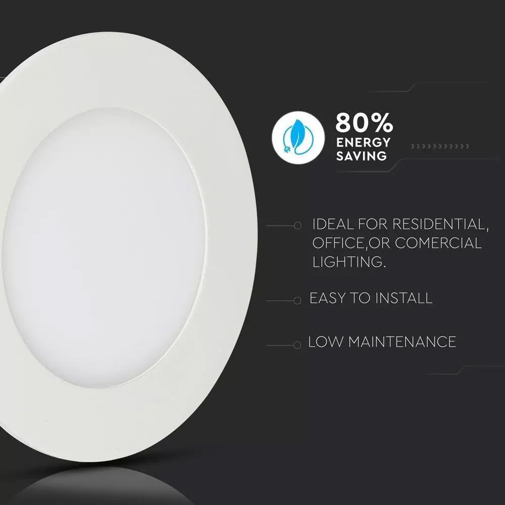 Panou LED Premium 6W, Cip SAMSUNG, Rotund, 6400K
