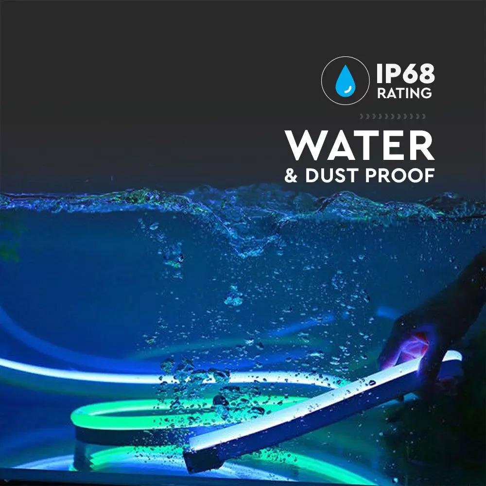 Neon Flex 6.5W, 24V, IP68, Lumina Verde