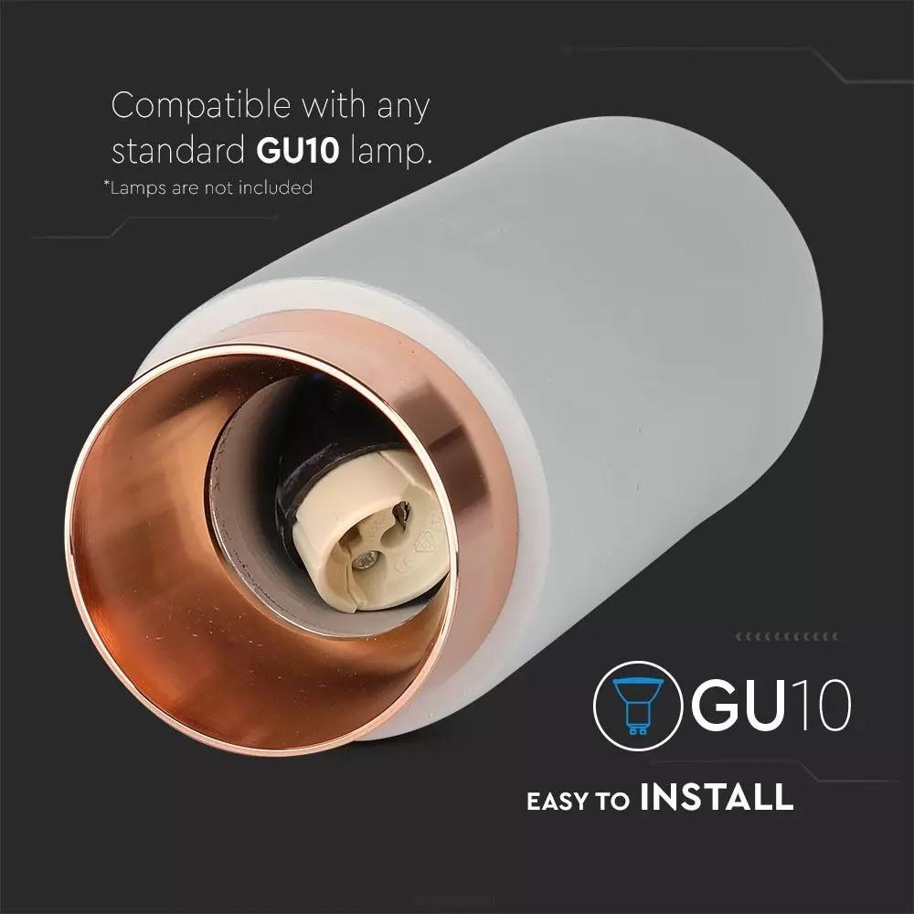 Fitting din Gips, Ciment si Metal Suspendat pentru GU10