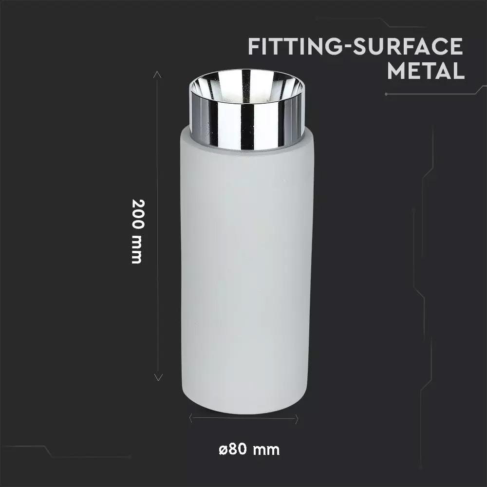 Fitting din Gips, Metal&Ciment Gri pentru GU10