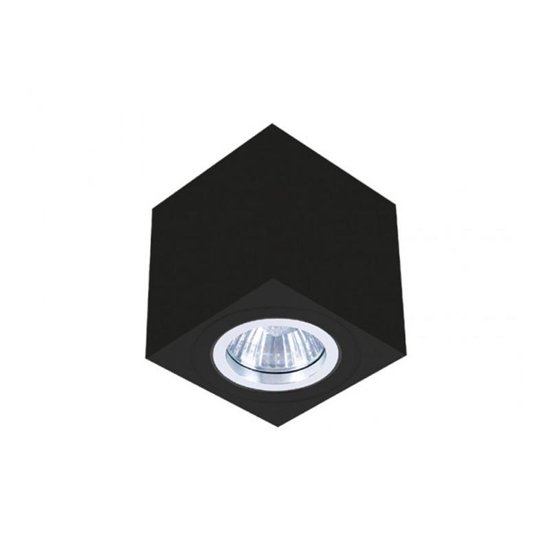 Rama Patrata Neagra pentru Spot GU10, 80x80 mm