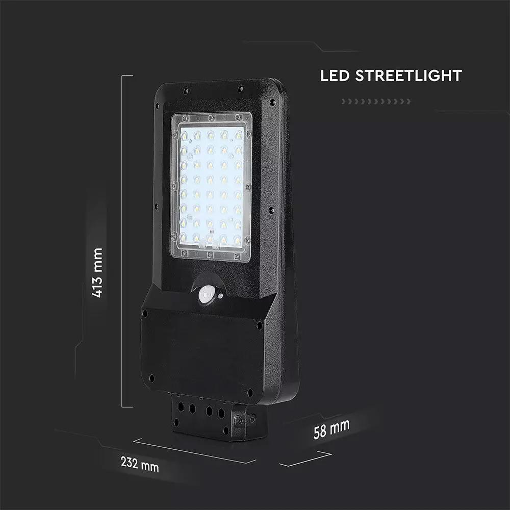 Lampa Solara Stradala LED 15W, Corp Negru, Lumina Naturala (4000K)