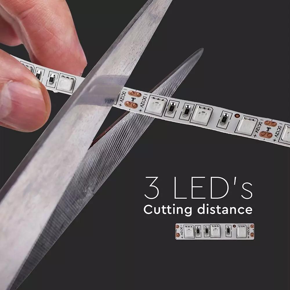 Banda LED, SMD5050, Lumina Calda (2200K) Non-waterproof, 9W/M