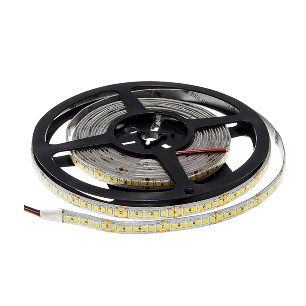 Banda LED Profesionala 24V, 20W/M/196 led/M, Lumina Calda (2800K) IP65