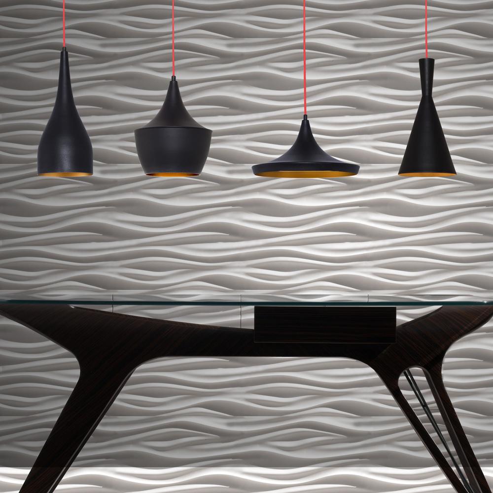 Pendul Minimalist Negru cu Interiorul Auriu, Soclu E27