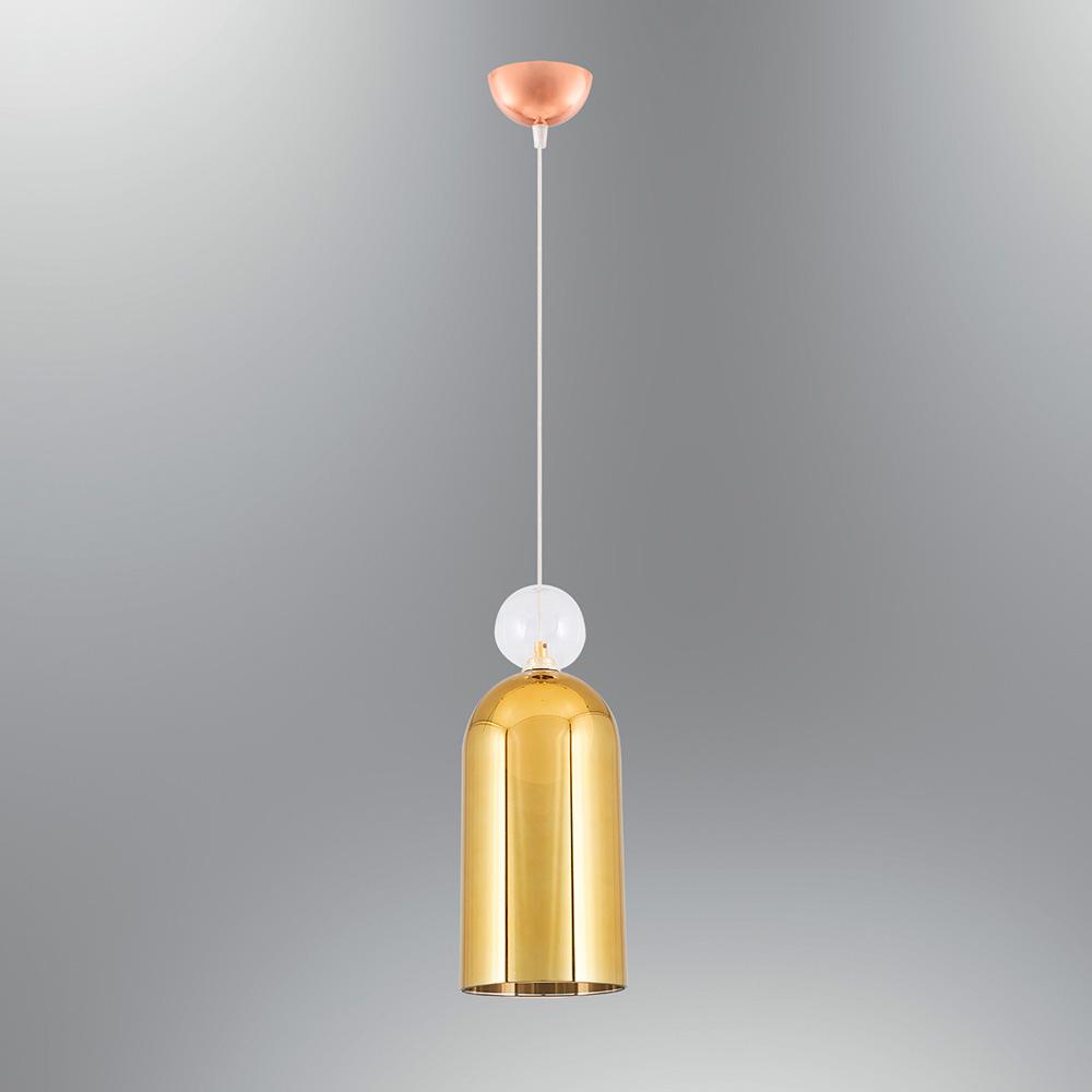 Pendul din Sticla Auriu, Soclu G9, Forma Cilindrica