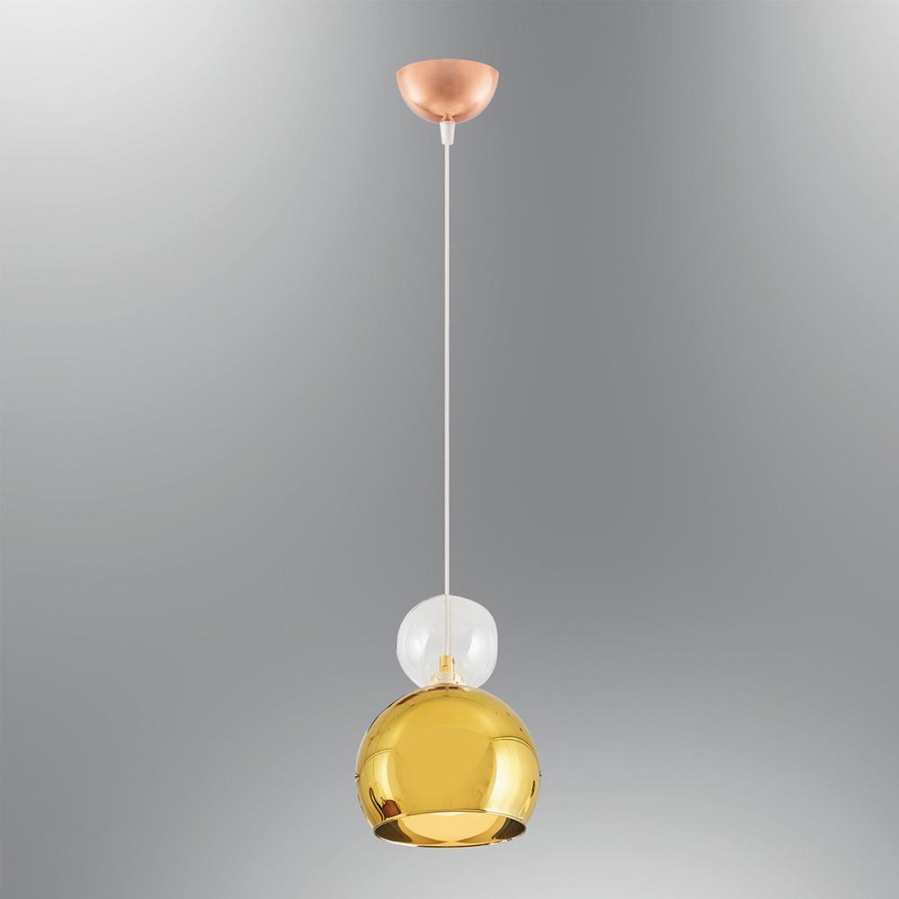 Pendul din Sticla Gold Semicerc, Soclu G9