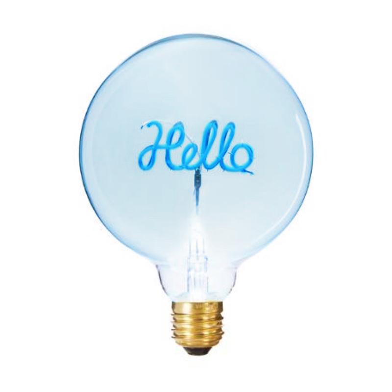 Bec LED Hello 2W, E27, G125, Lumina Albastra