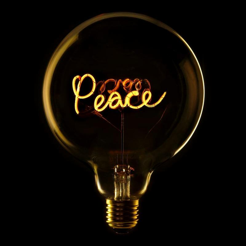 Bec LED Peace 2W, E27, G125, Lumina Calda 2200K