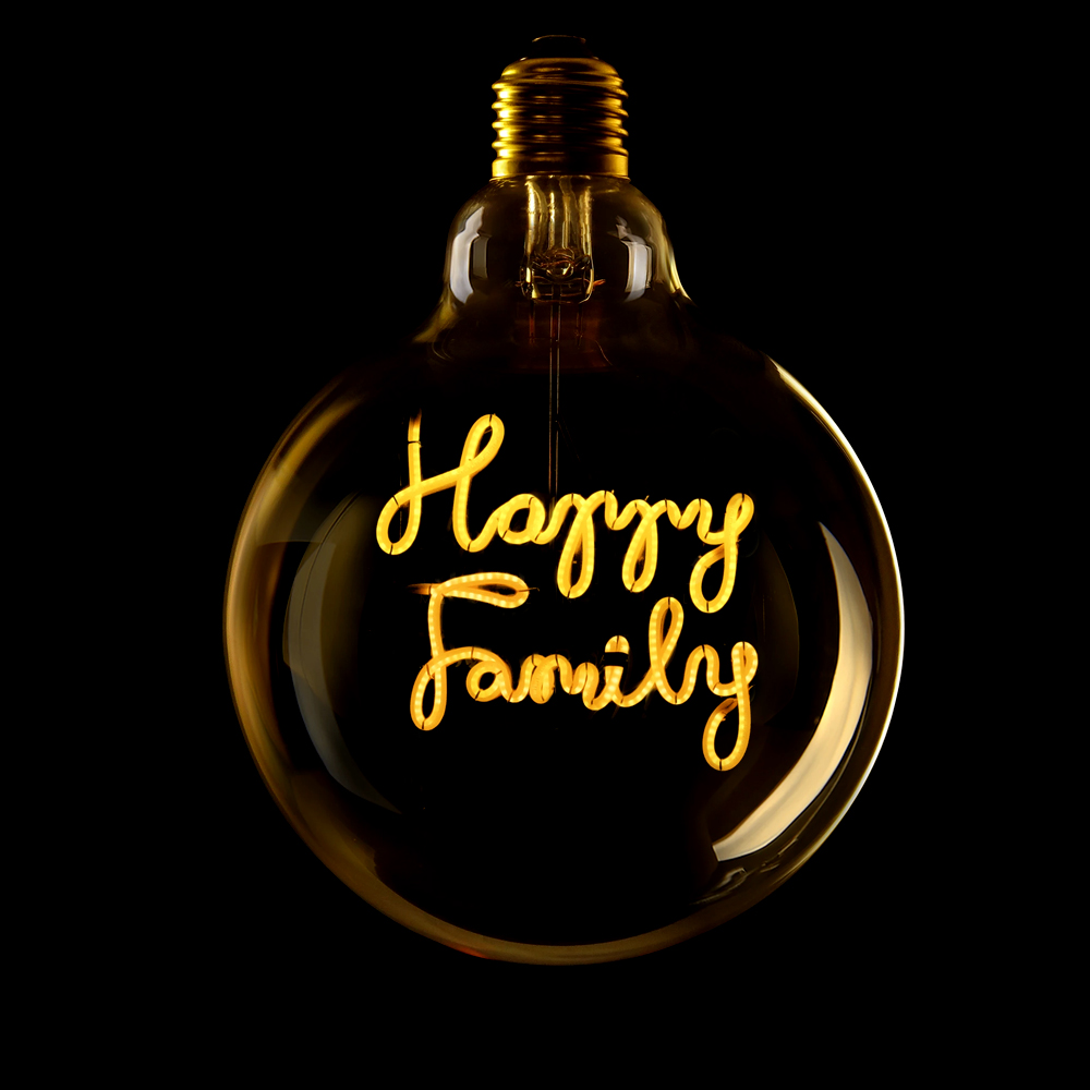Bec LED Happy Family 2.5W, E27, G125, Lumina Calda 2200K
