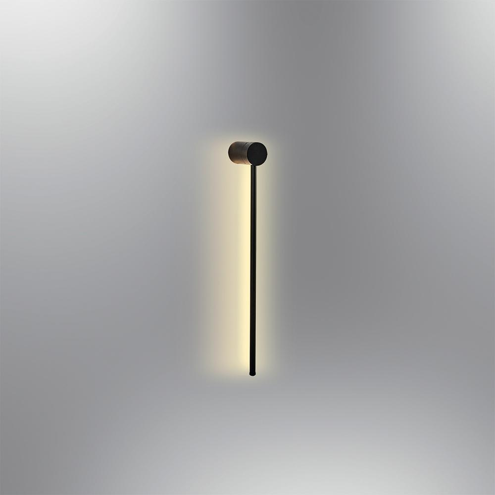 Lampa de Perete Neagra Liniara 11W