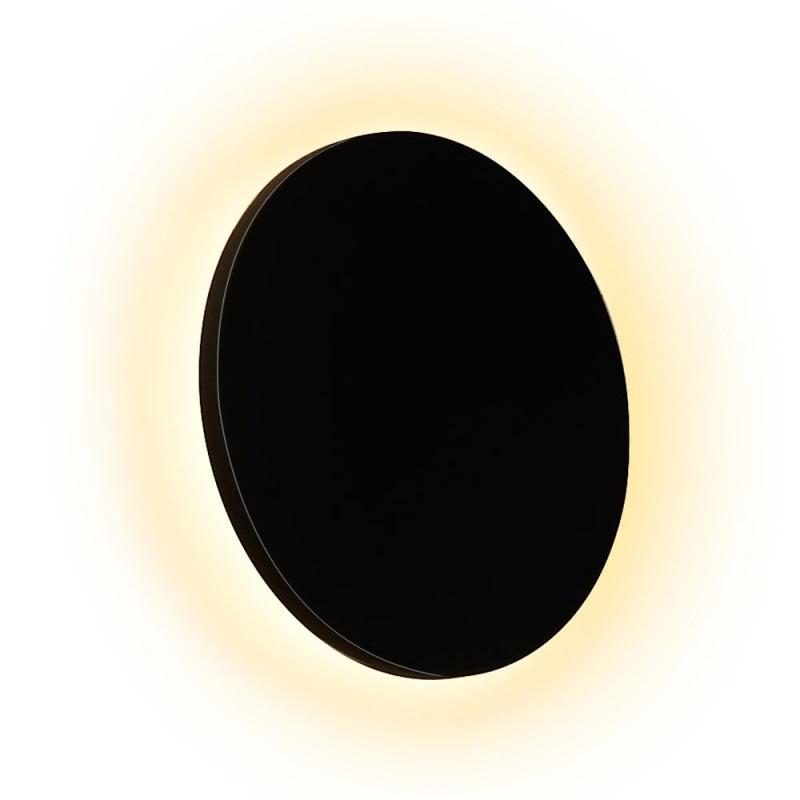 Lampa de Perete Rotunda Neagra 10W