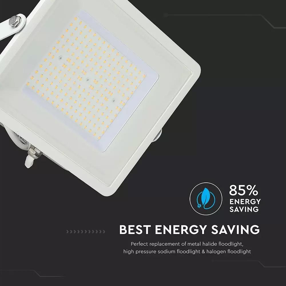 Proiector LED SMD 100W, Slim, Cip SAMSUNG, Corp Alb, 4000k, 120LM/W