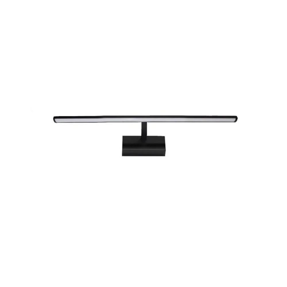 Lampa de perete confectionata din metal si materiale acrilice, Neagra, 450mm