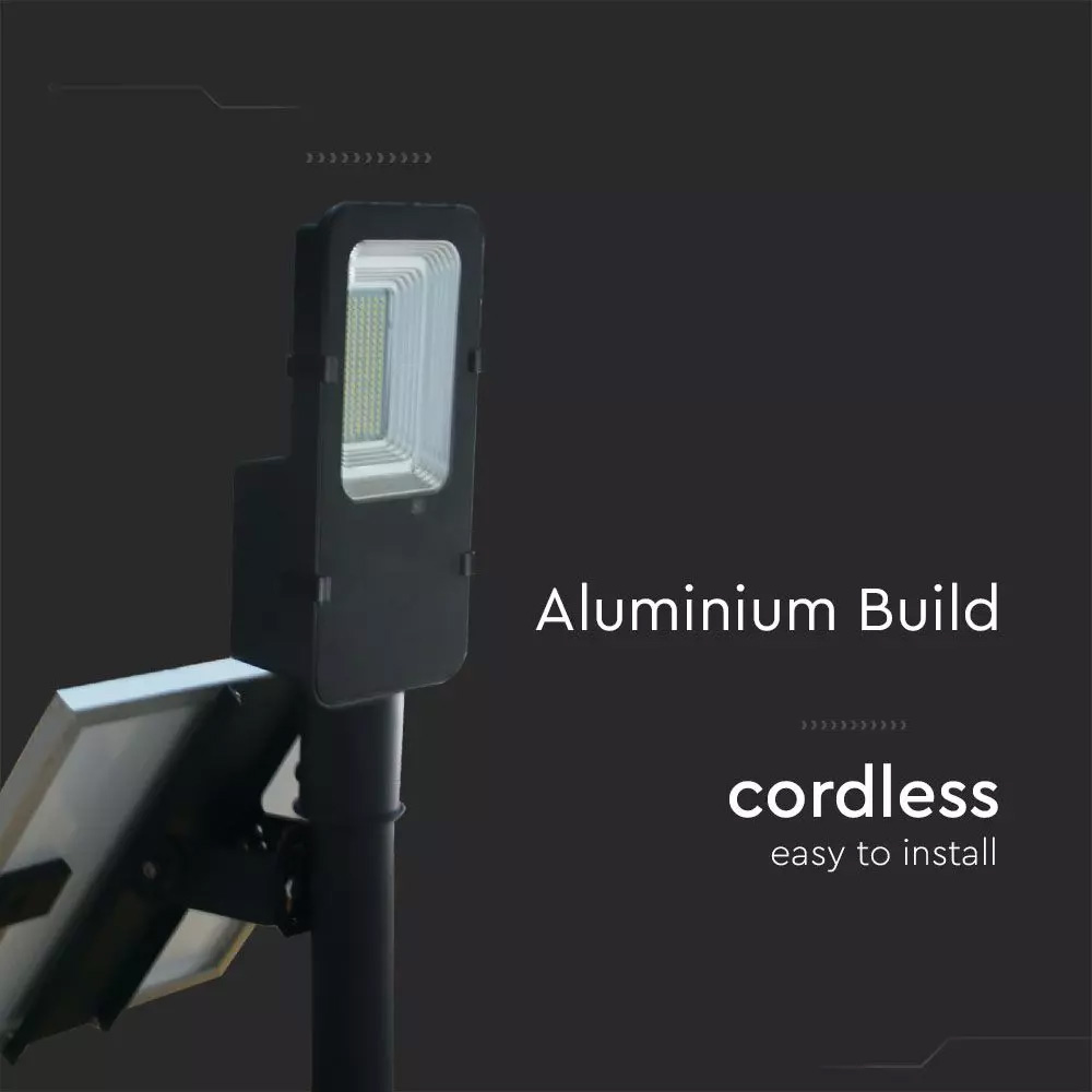 Lampa Stradala LED 50W, Incarcare Solara, 4000K