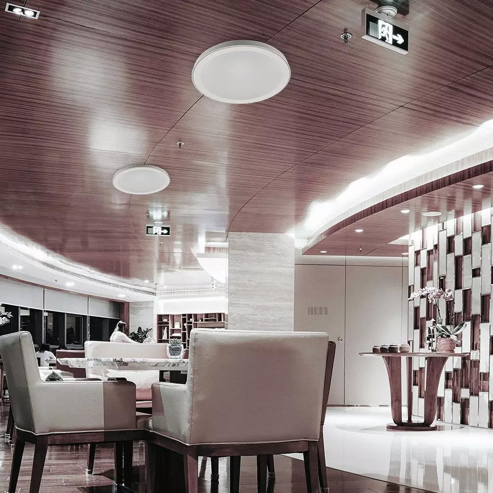 Plafoniera LED 60W, 3 in 1 cu Telecomanda, Dimabila, Rotunda