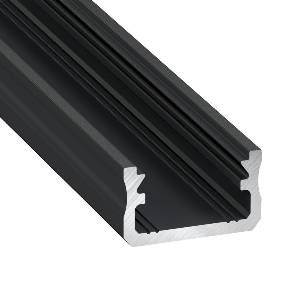 Profil din Aluminiu Aplicat TIP A, Negru 3m
