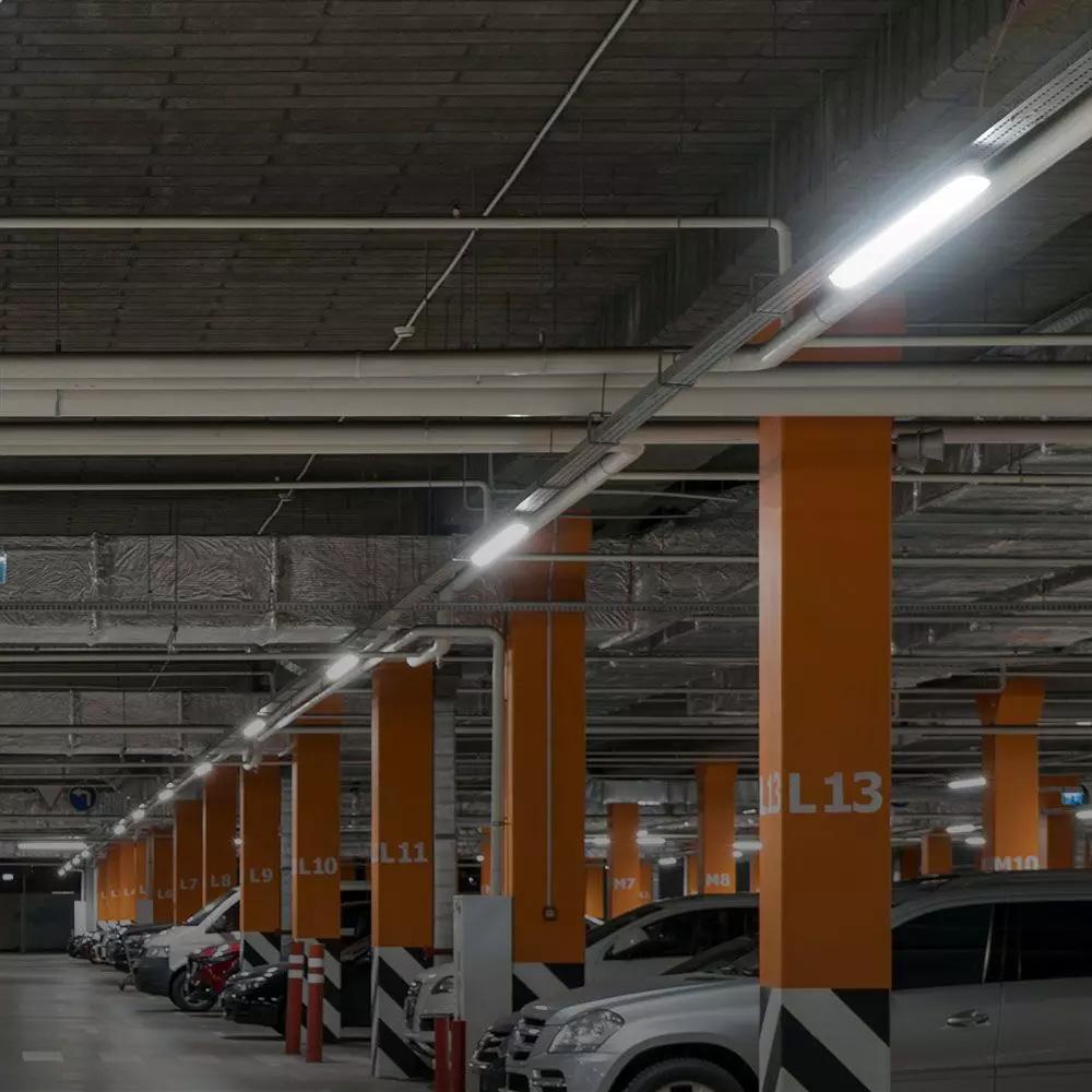 Lampa LED Rezistenta la Apa Seria-M 1500mm 48W, 6400K, Milky Cover SS Clip 120lm/W