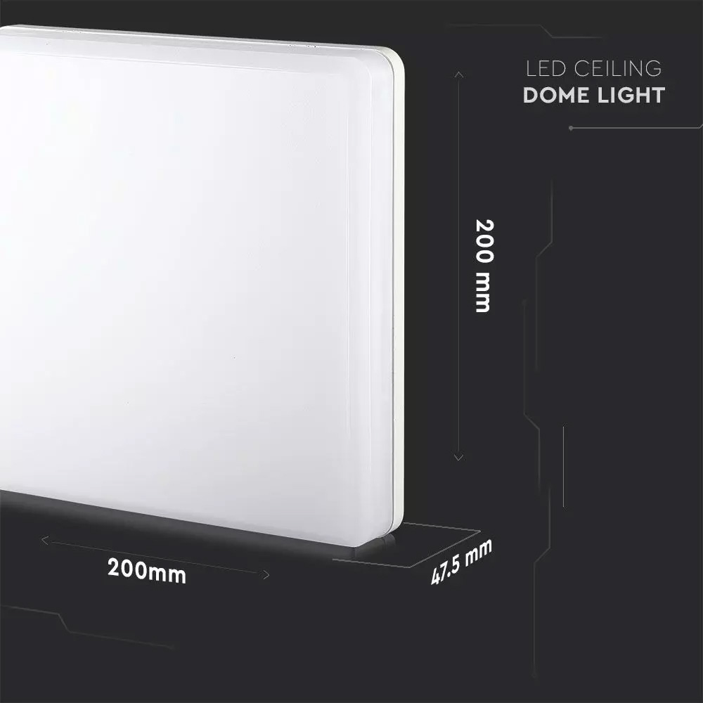 Aplica LED 15W, SAMSUNG Cip, Patrat, 3000K, IP44