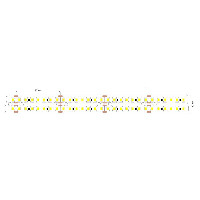 Banda Led 3Y, 25W/M, 24V, 1400 Lumeni/m, Lumina Naturala, Rola 5m
