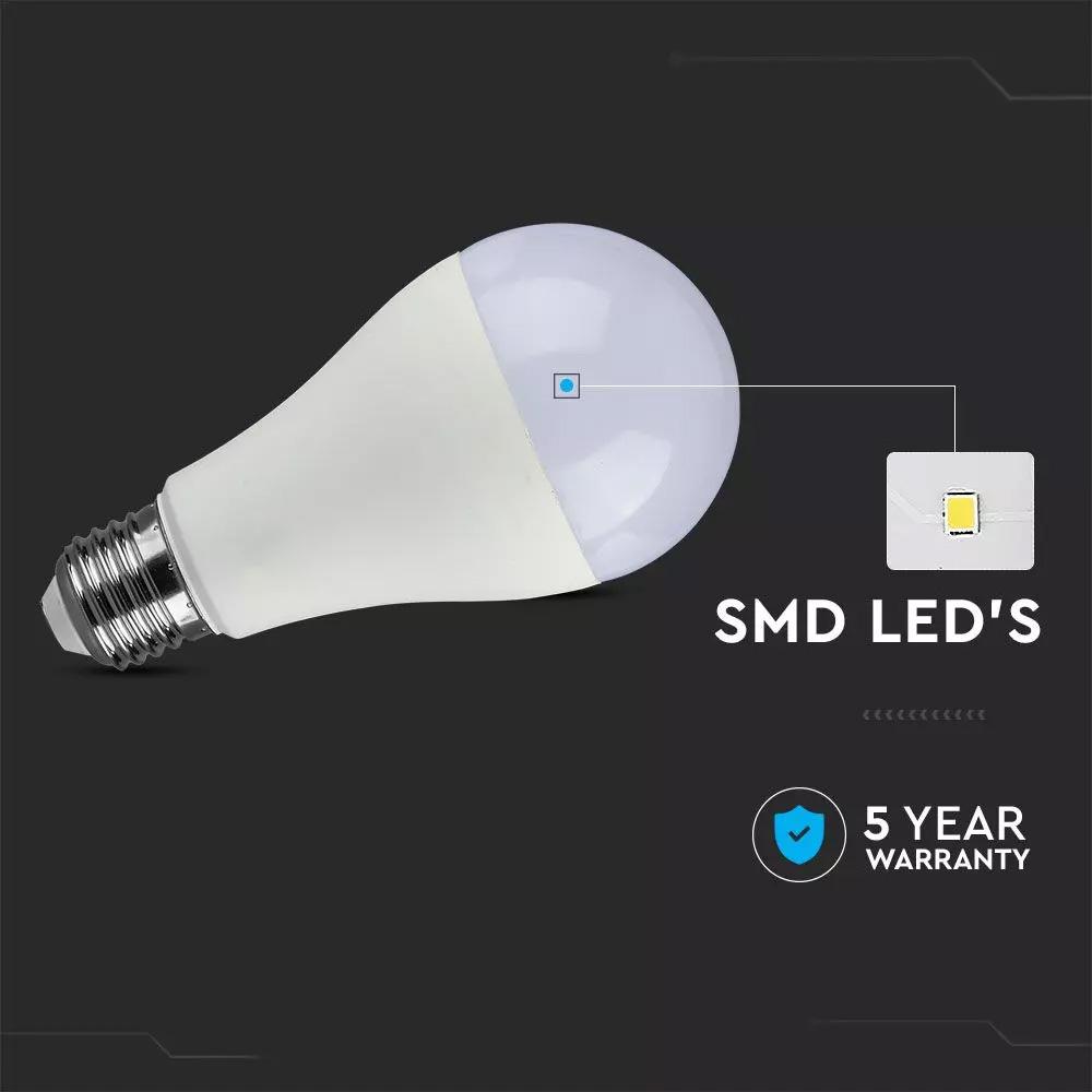 Bec LED Cip SAMSUNG 15W, E27, A65, Plastic, Alb cald