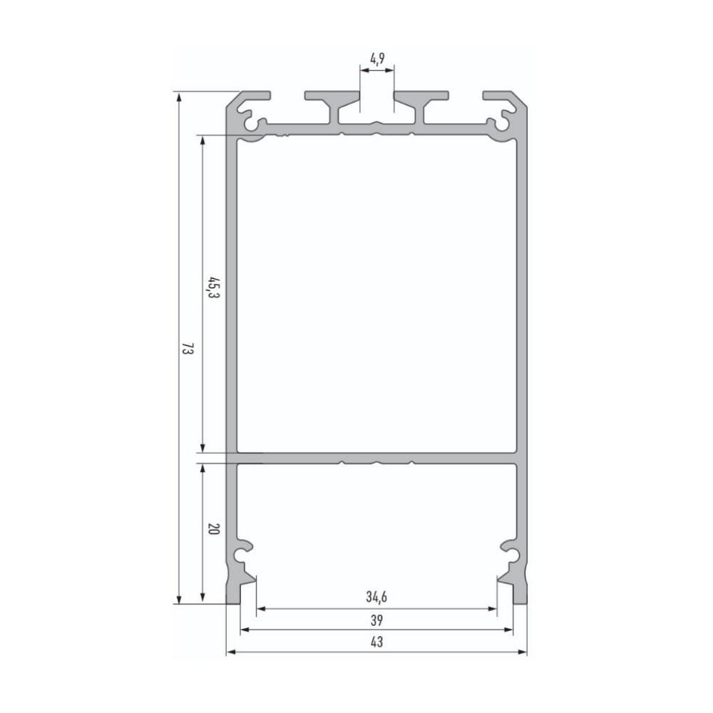 Profil Tip CLARO Silver, 3m