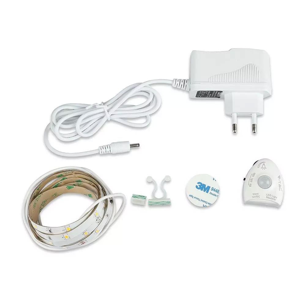 Banda LED, senzor pentru pat single, Lumina Calda