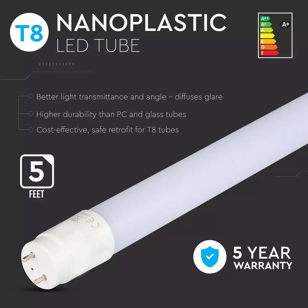 Tub LED T8 Cip SAMSUNG 150cm, 22W, G13, Nano Plastic 6400K