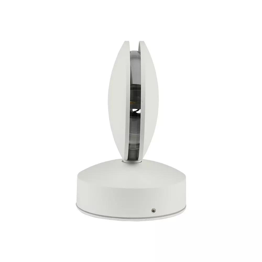 Lampa de perete LED 7W, Corp rotund Alb, Lumina calda, IP65
