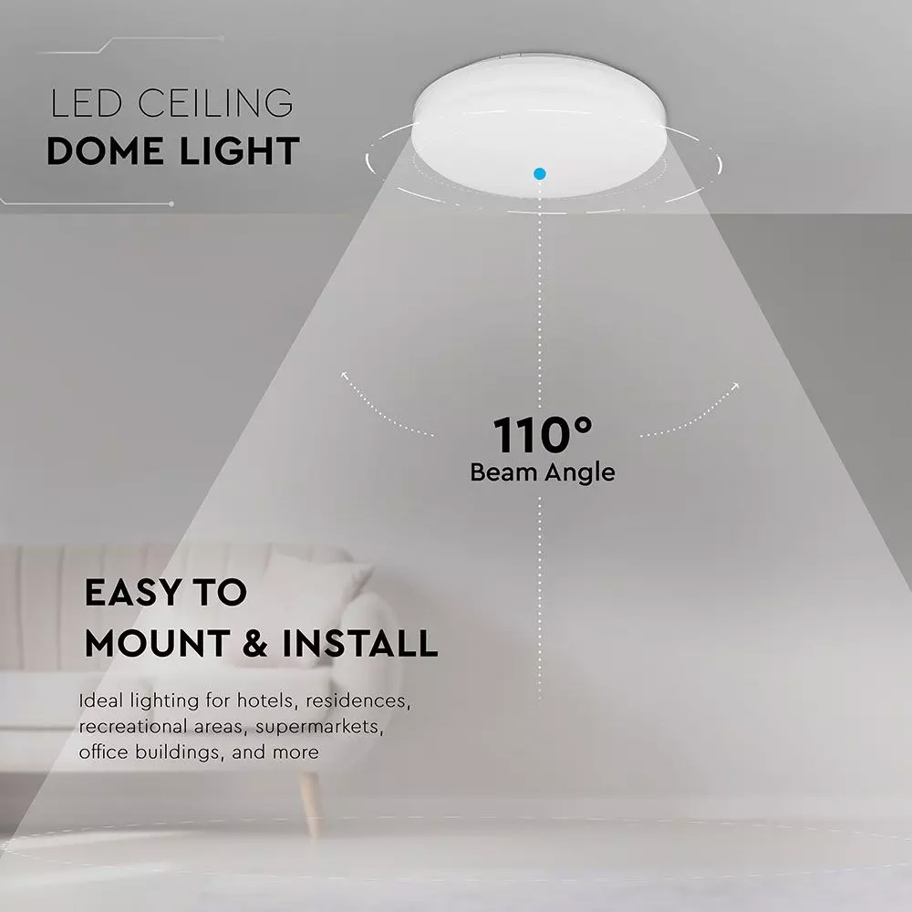 Aplica de perete LED 24W, Corp rotund, Alb cald, IP65